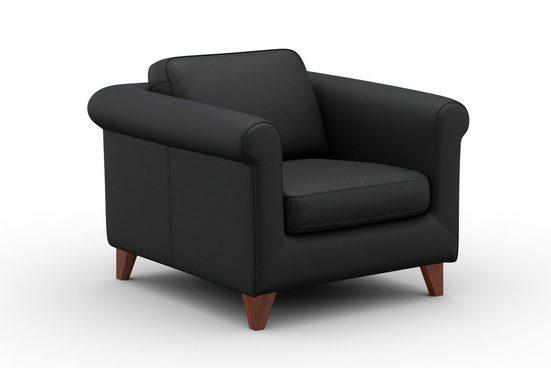 machalke® Sessel »Amadeo«  Ledersessel mit geschwungenen Armlehnen
