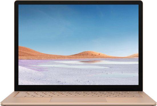 "Microsoft Surface Laptop 3 13,5"" – 8GB / 256GB i5 Sandstein Notebook (34 cm/13,5 Zoll, Intel Core i5, Iris Plus Graphics, 256 GB SSD, inkl. Office-Anwendersoftware Microsoft 365 Single im Wert von 69 Euro)"