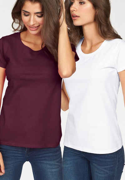 Fruit of the Loom Rundhalsshirt »Lady Fit Valueweight« (Packung, 2-tlg., 2er-Pack)