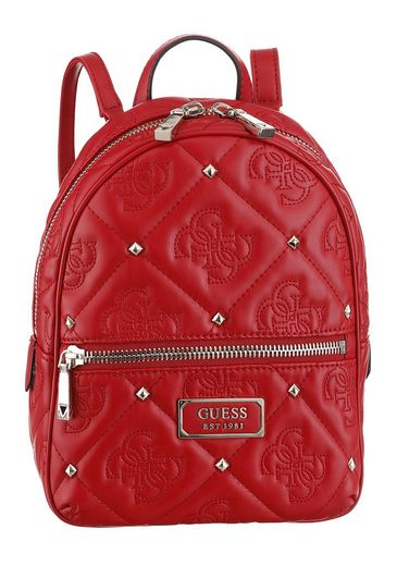 Guess Cityrucksack »Shanina Backpack«, mit trendiger Steppung und Nieten