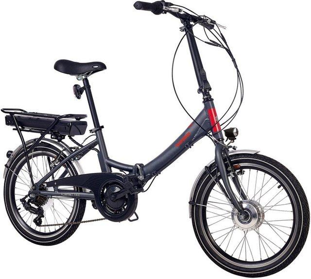 Telefunken E-Bike »Kompakt F800«, 7 Gang Shimano FT 35 Schaltwerk, Kettenschaltung, Frontmotor 250 W*