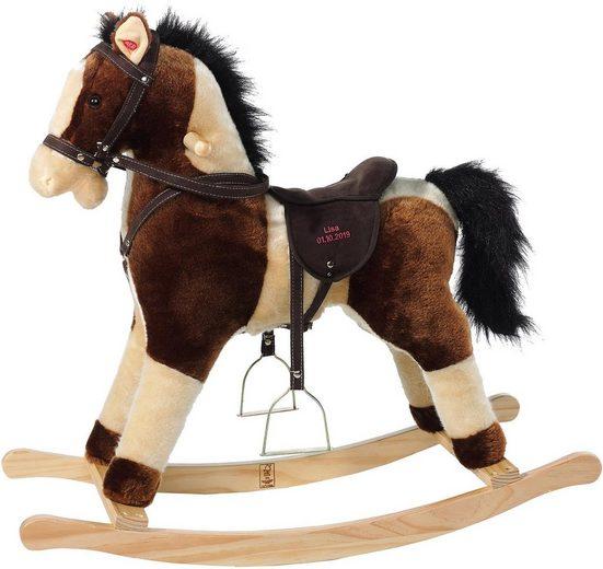 Heunec® Schaukelpferd »Schaukel-Pferd mit Sound«, und individuell bestickbarem Sattel