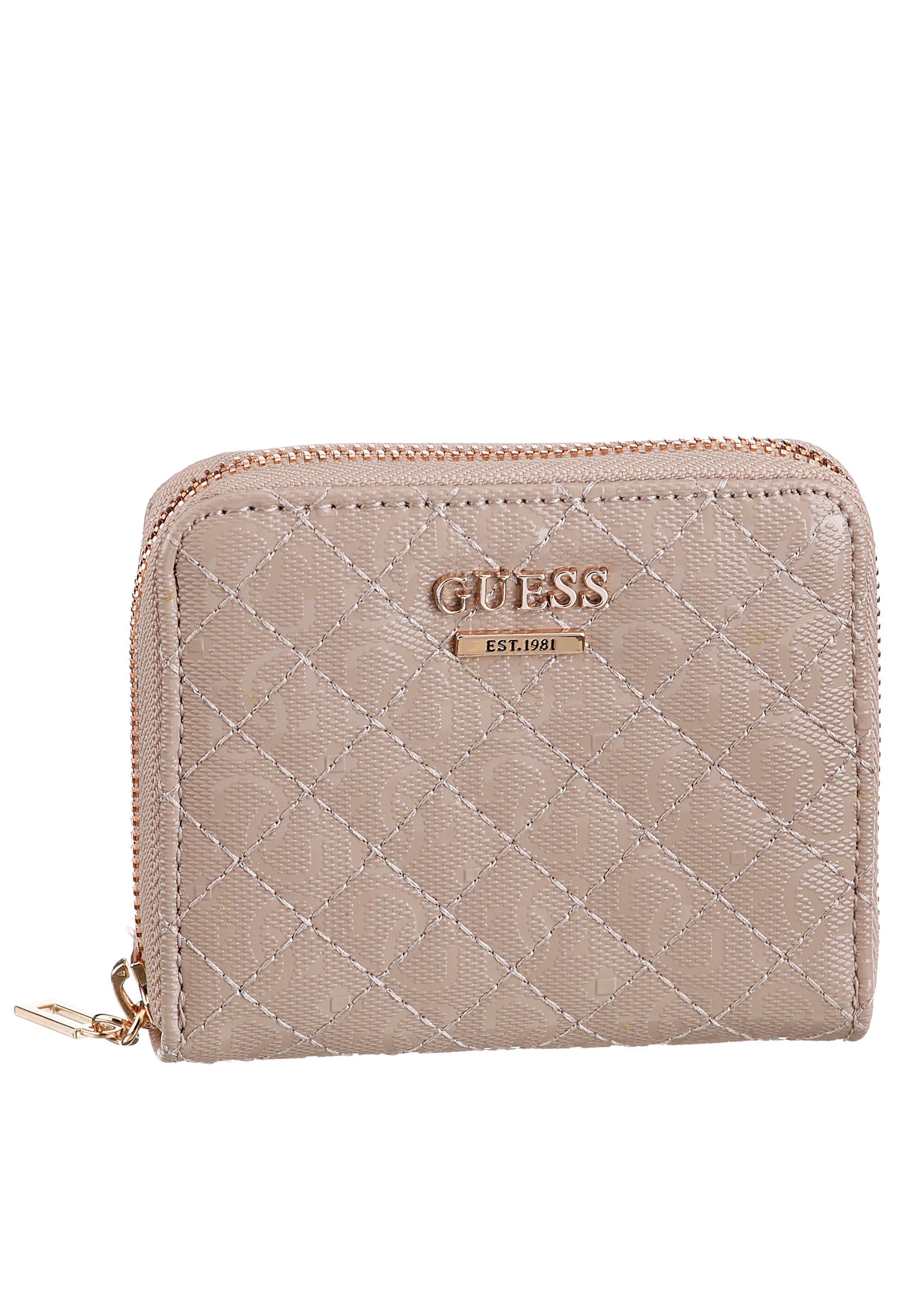 Guess Geldbörse »Wilona SLG small Zip around«, mit Rosegoldfarbenen Details online kaufen | OTTO