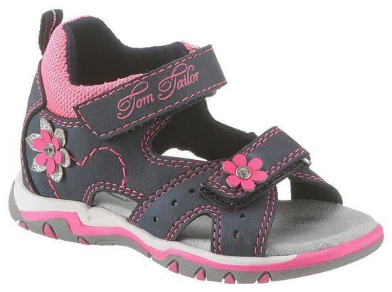 TOM TAILOR Sandale mit süßer Blütenverzierung