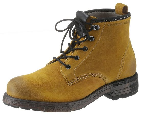 Yellow Cab Schnürboots mit derber Used-Optik