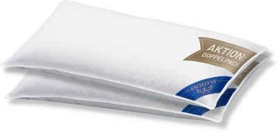 3-Kammer-Kopfkissen, »Venedig - Premium«, Excellent, Füllung: 100% Gänsedaunen Außenkammer, Bezug: 100% Baumwolle, (2-tlg)