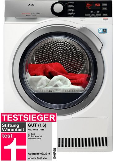 AEG Wärmepumpentrockner T9DE77685, 8 kg