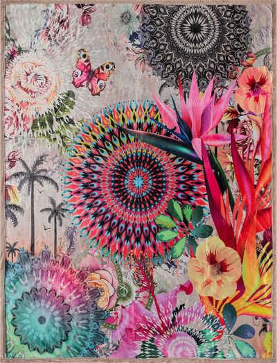 Plaid »Maelli«, hip, mit Mandalas und exotischen Blüten