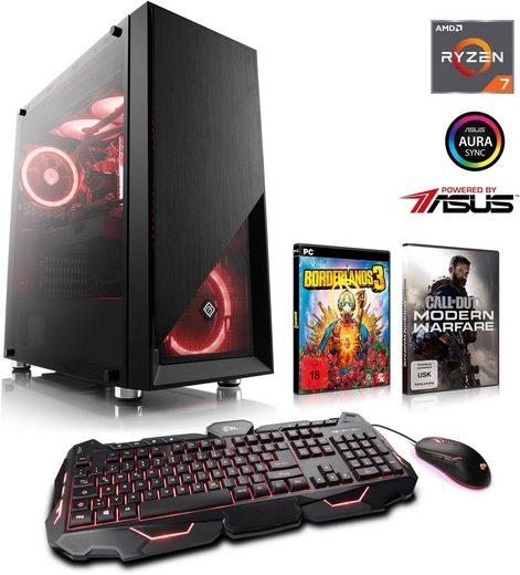 CSL HydroX T8810G Powered by ASUS Gaming-PC (AMD Ryzen 7, RTX 2070, 16 GB RAM, 1000 GB HDD, 240 GB SSD, Wasserkühlung)