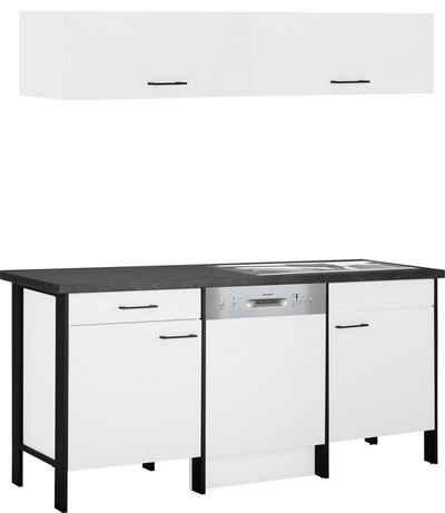 OPTIFIT Küchen-Set »Tokio«, (5-St), 192 cm breit, mit Stahlgestell, mit Vollauszug