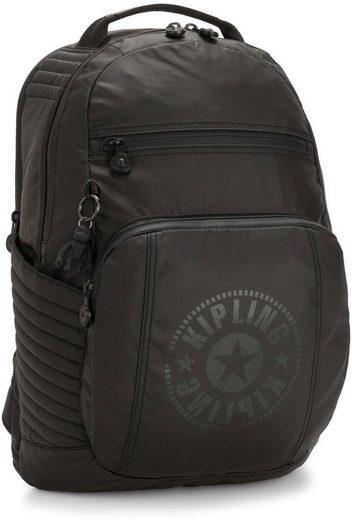 KIPLING Laptoprucksack »Troy Extra, Raw Black«, mit abnehmbarer Brusttasche