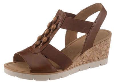 Gabor Sandalette mit hübschen Holzperlen