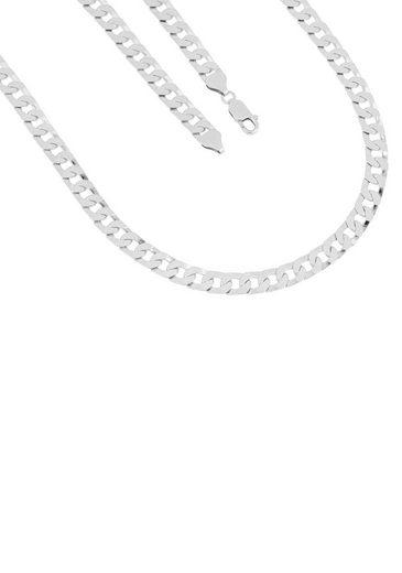 Firetti Silberkette »in Panzerkettengliederung, 6,7 mm, 4-fach diamantiert«