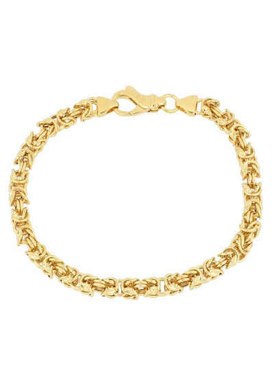 Firetti Armband »in Königskettengliederung, 5,0 mm, vergoldet, glanz, quadratisch«