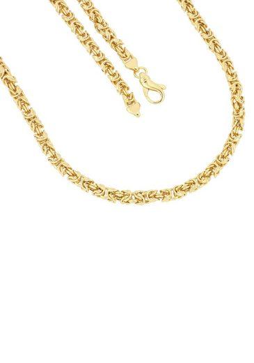 Firetti Kette ohne Anhänger »in Königskettengliederung, 5,0 mm, glänzend, vergoldet, quadratisch«