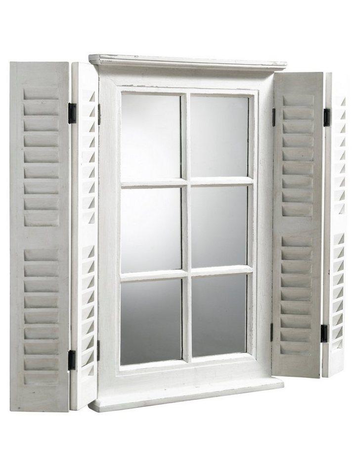 Spiegelfenster in weiß