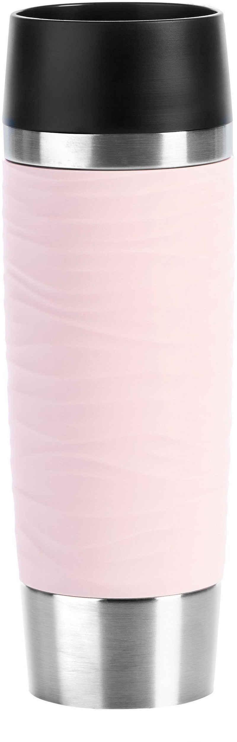 Emsa Thermobecher »Travel Mug Waves Grande«, Edelstahl, Edelstahl, 500 ml Inhalt, auslaufsicher, 6h heiß, 12h kalt, doppelwandig, spülmaschinenfest