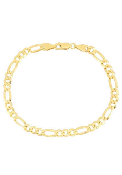 Firetti Armband »in Figarokettengliederung, 5,3 mm, glänzend, vergoldet, klassisch, zeitlos, 6-fach diamantiert«