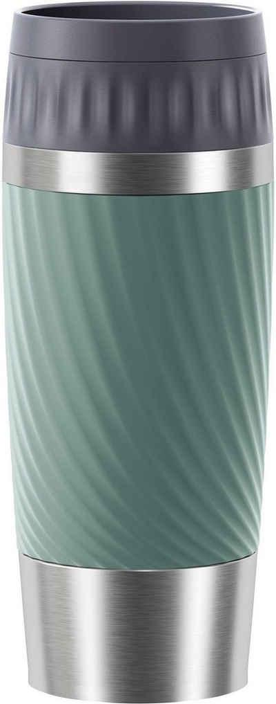 Emsa Thermobecher »Tavel Mug Easy Twist«, Edelstahl, Edelstahl, 500 ml Inhalt, auslaufsicher, 4h heiß, 8h kalt, doppelwandig, spülmaschinenfest