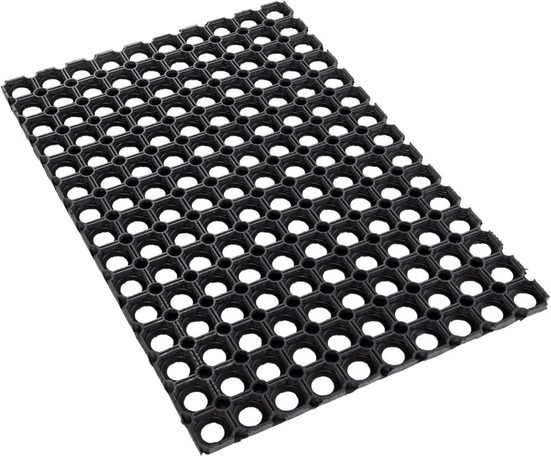 Fußmatte »Gummi Ringmatte«, Andiamo, rechteckig, Höhe 15 mm, In- und Outdoor geeignet, besonders robust