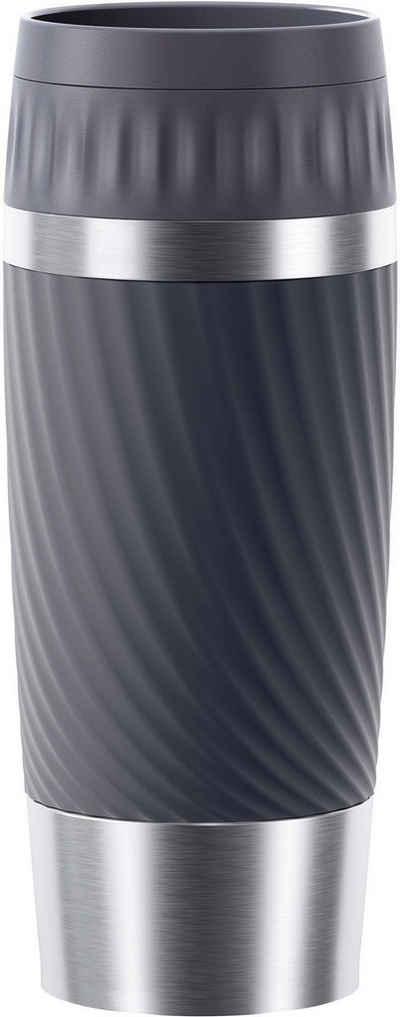 Emsa Thermobecher »Tavel Mug Easy Twist«, Edelstahl, Edelstahl, 360 ml Inhalt, auslaufsicher, 4h heiß, 8h kalt, doppelwandig, spülmaschinenfest
