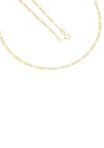 Firetti Goldkette »in Figarokettengliederung, 2,0 mm, glänzend, 2-fach diamantierte Optik, 3:1, halbmassiv«