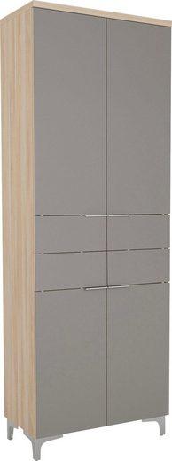 Garderobenschrank Oberplatte in 28mm starkem Holz, Kleiderstange ausziehbar