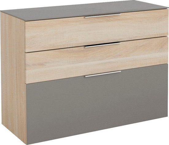 Maja Möbel Hängeschuhschrank »SHINO Garderobe« Oberplatte in ESG-Sicherheitsglas, Schubladen mit Filzeinlagen