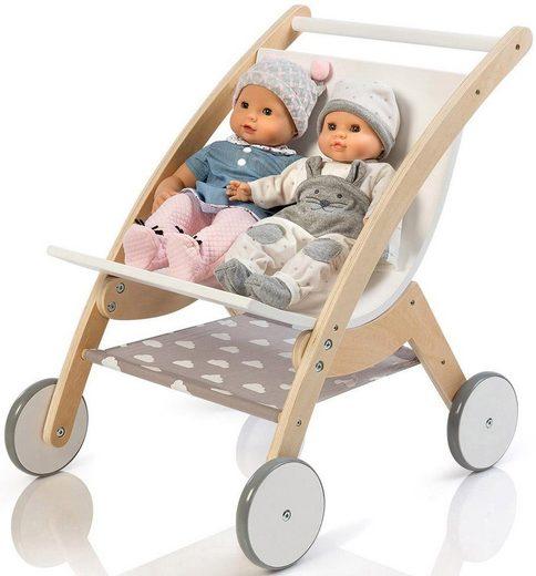 MUSTERKIND® Puppen-Zwillingsbuggy »Barlia, natur/weiß«