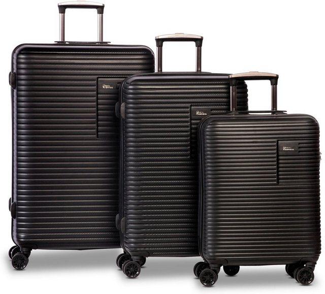 fabrizio® Trolleyset »Breeze, schwarz«, 4 Rollen, (3 tlg) | Taschen > Koffer & Trolleys > Trolleys | fabrizio®