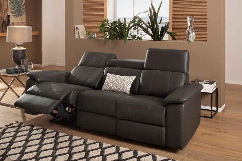 Home affaire 3-Sitzer »Binado«, Wahlweise mit manueller oder elektrischer Relaxfunktion mit USB-Anschluss, Federkern-Polsterung