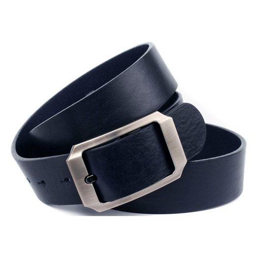 Anthoni Crown Ledergürtel Vollleder Jeansgürtel in dunkelblau