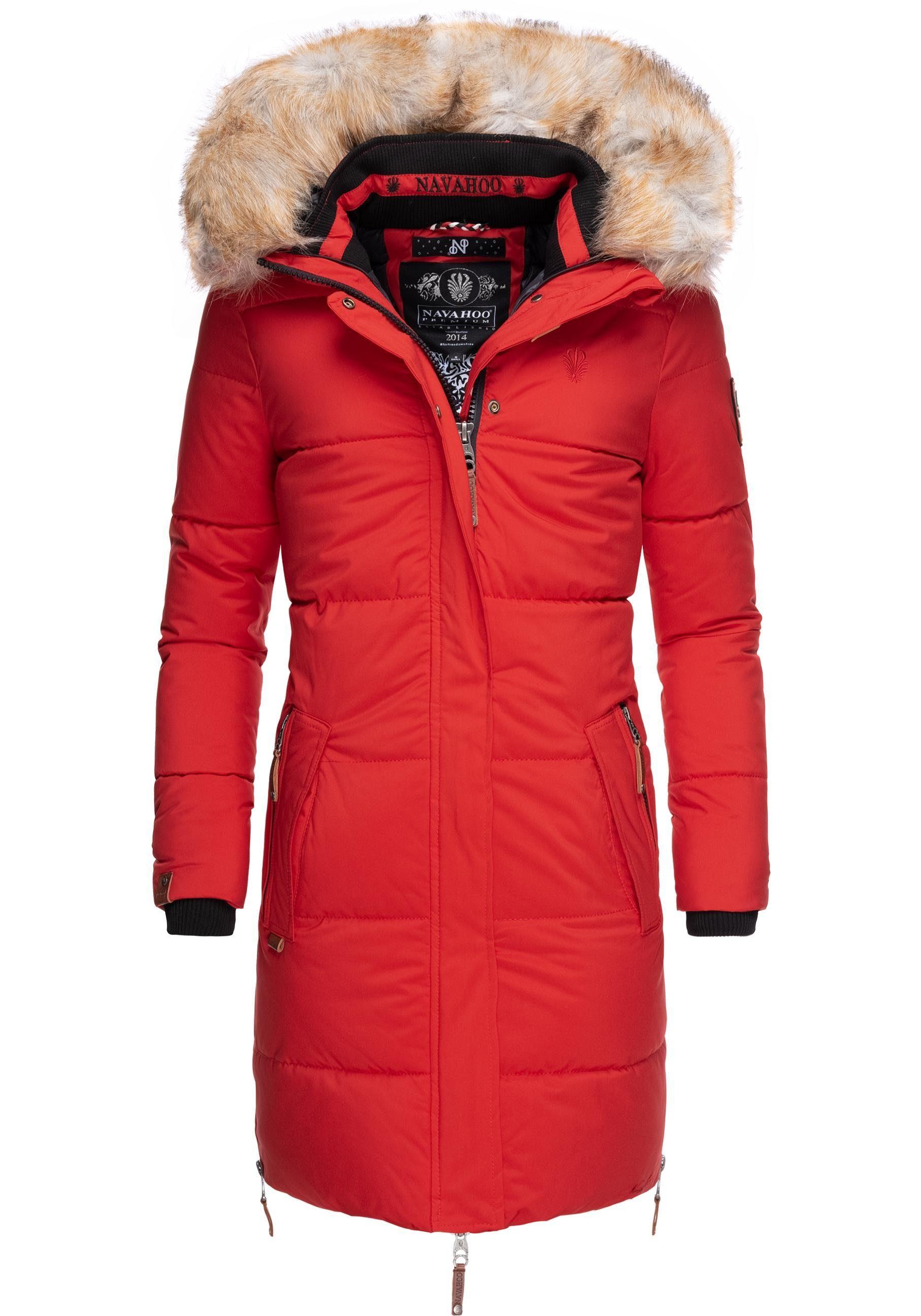 Navahoo Wintermantel »Halina« modischer Damen Winter Steppmantel mit Kapuze online kaufen | OTTO