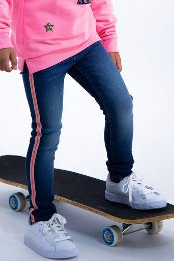 Garcia Skinny-fit-Jeans mit Seitenstreifen