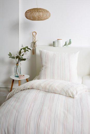 Bettwäsche »Bio Crepe Stripes«, Primera, mit feinem Streifendesign