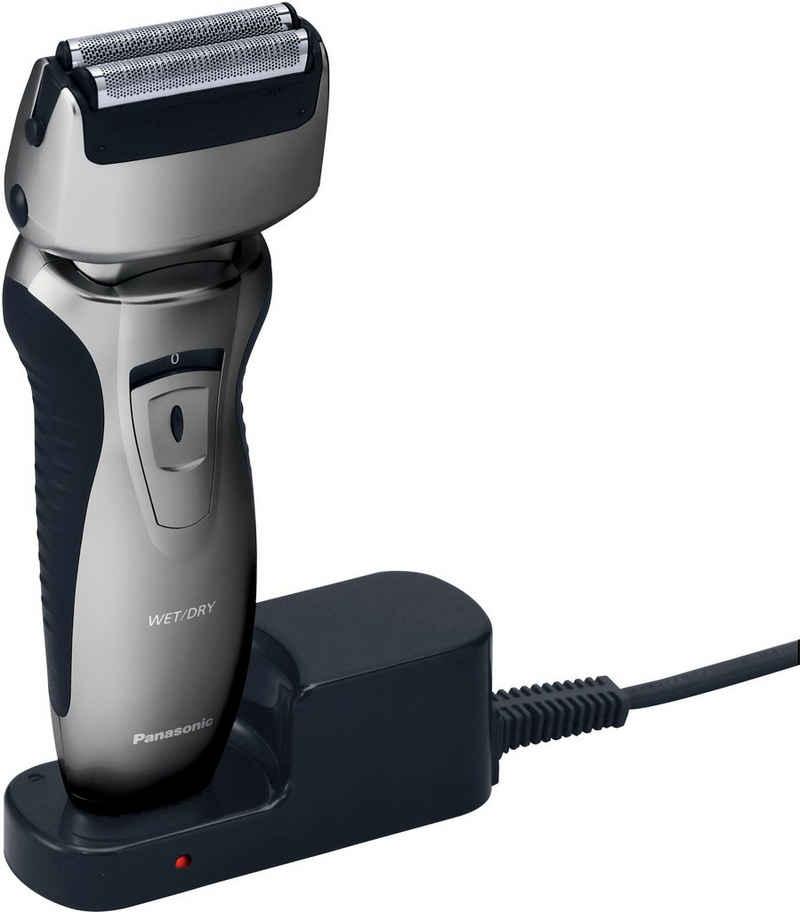 Panasonic Elektrorasierer ES-RW33-H503, Aufsätze: 0, ausklappbarer Langhaarschneider, Rasierer mit Ladestation