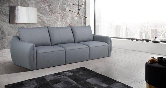 Places of Style 3-Sitzer »Hugo«, gemütliches Design aus Kunststoff Füßen