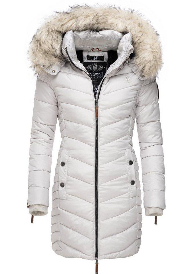 Top Qualität verschiedene Arten von gut aussehend Navahoo Wintermantel »Nimalaa« modischer Damen Winter Steppmantel mit  Kapuze online kaufen   OTTO