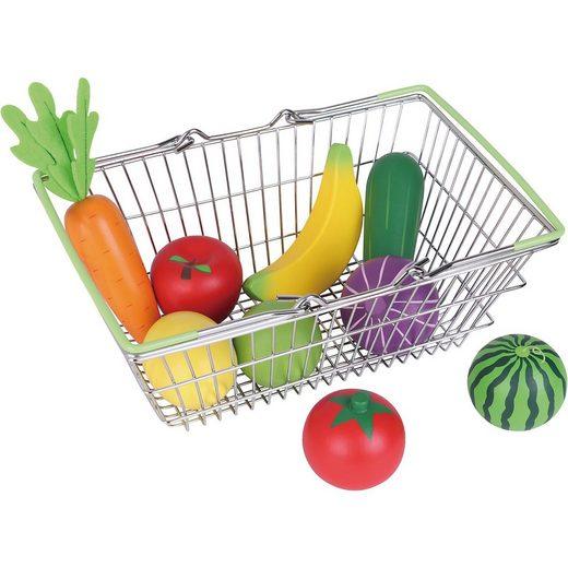 myToys Einkaufskorb mit Obst und Gemüse, 10 tlg.