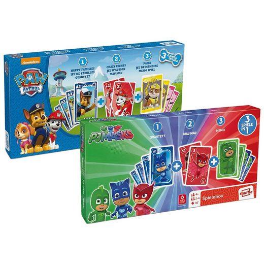 ASS 3 in 1 Spieleboxen - PAW Patrol und PJ Masks