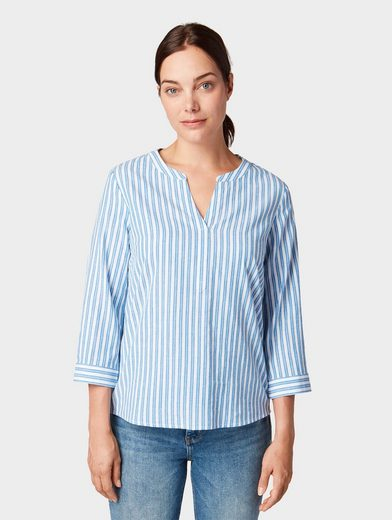 TOM TAILOR Shirtbluse »Gemusterte Bluse«