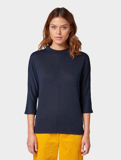 TOM TAILOR 3/4-Arm-Shirt »3/4 Arm Shirt mit Fledermausärmeln«