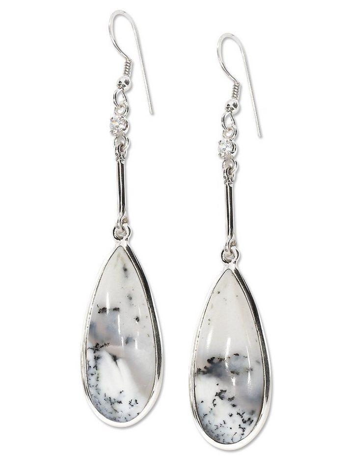 adelia´s -  Paar Ohrhänger »Dendritenopal Ohrschmuck Ohrhänger - 925 Silber«
