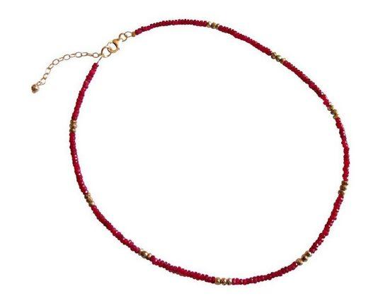 Gemshine Perlenkette »RUBIN« Made in Germany
