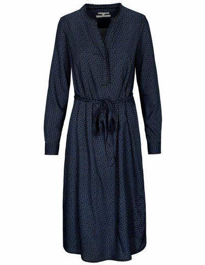 BASEFIELD Blusenkleid »Allover-Print« mit Rüschen am Ausschnitt