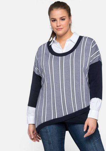 Sheego 3/4 Arm-Pullover aus reinem Tencel