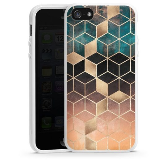 DeinDesign Handyhülle »Ombre Dream Cubes« Apple iPhone 5s, Hülle Gold & Kupfer Würfel Elisabeth Fredriksson