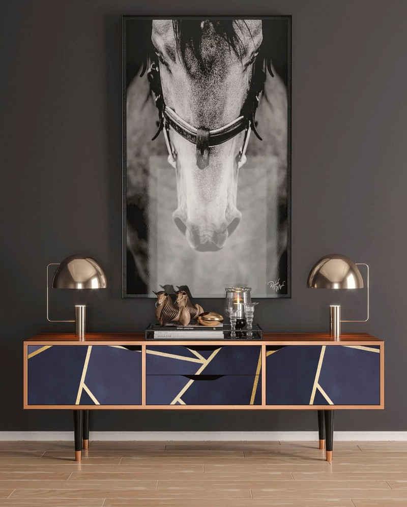 Places of Style Lowboard »Amethist«, mit dekorativen Print auf den Türen