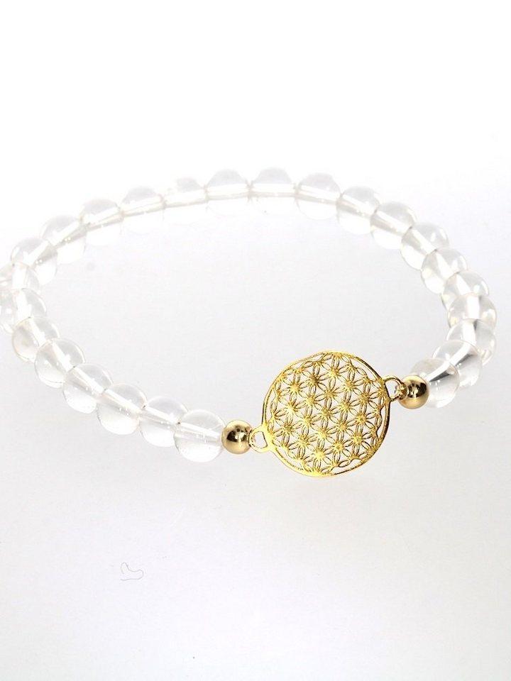 adelia´s -  Armband »Stein Armband - 925 Silber vergoldet«