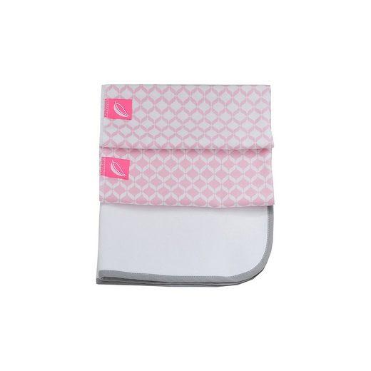 Wickelunterlage inkl. 2 Molltonunterlagen - rosa classics